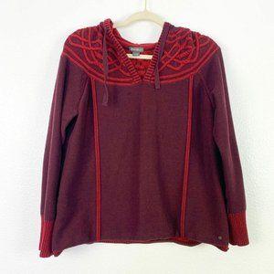 Eddie Bauer Womens Long Sleeve Hoodie Sweater XL